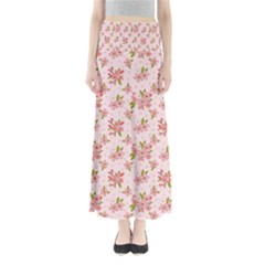 Beautiful hand drawn flowers pattern Maxi Skirts