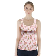 Beautiful hand drawn flowers pattern Racer Back Sports Top