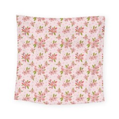 Beautiful hand drawn flowers pattern Square Tapestry (Small)