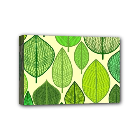 Leaves pattern design Mini Canvas 6  x 4