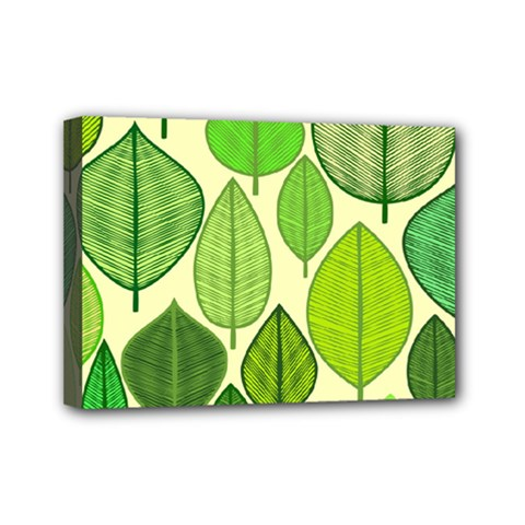 Leaves pattern design Mini Canvas 7  x 5