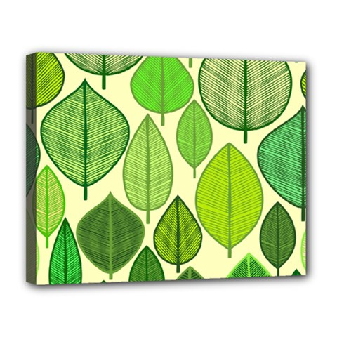 Leaves pattern design Canvas 14  x 11