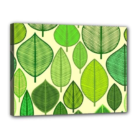 Leaves pattern design Canvas 16  x 12