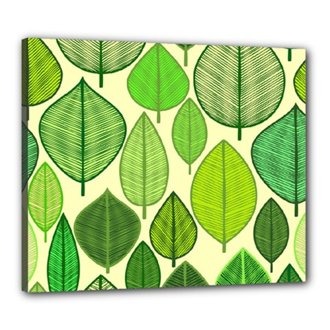 Leaves pattern design Canvas 24  x 20