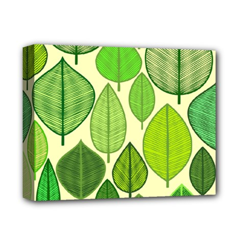 Leaves pattern design Deluxe Canvas 14  x 11