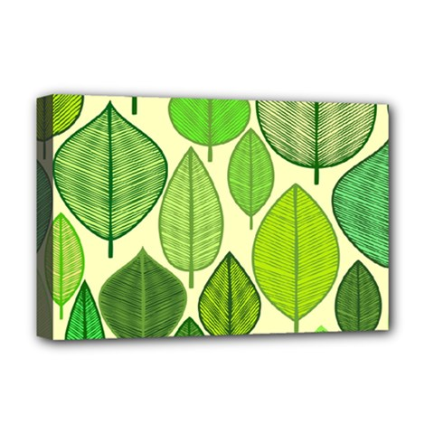Leaves pattern design Deluxe Canvas 18  x 12