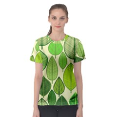 Leaves pattern design Women s Sport Mesh Tee