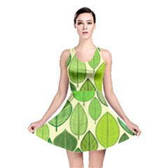 Leaves pattern design Reversible Skater Dress