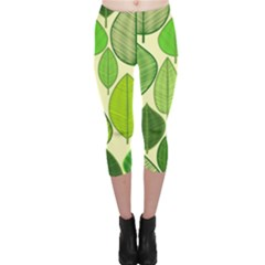 Leaves pattern design Capri Leggings