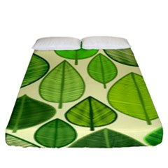 Leaves pattern design Fitted Sheet (King Size)