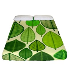 Leaves pattern design Fitted Sheet (California King Size)