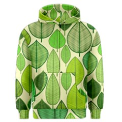 Leaves pattern design Men s Zipper Hoodie