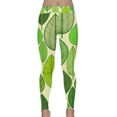 Leaves pattern design Classic Yoga Leggings