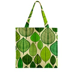 Leaves pattern design Zipper Grocery Tote Bag