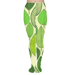 Leaves pattern design Women s Tights