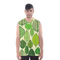 Leaves pattern design Men s Basketball Tank Top
