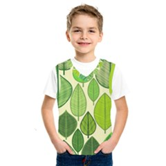 Leaves pattern design Kids  SportsWear