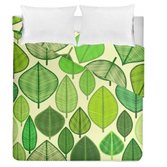 Leaves pattern design Duvet Cover Double Side (Queen Size)