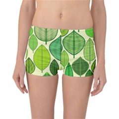 Leaves pattern design Reversible Bikini Bottoms