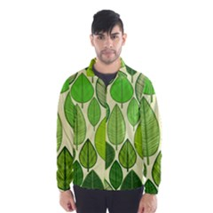 Leaves pattern design Wind Breaker (Men)