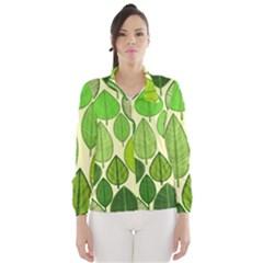 Leaves pattern design Wind Breaker (Women)
