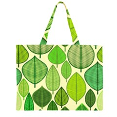 Leaves pattern design Large Tote Bag