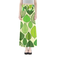 Leaves pattern design Maxi Skirts