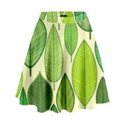 Leaves pattern design High Waist Skirt