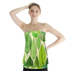 Leaves pattern design Strapless Top