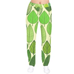 Leaves pattern design Drawstring Pants