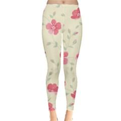 Seamless Flower Pattern Leggings
