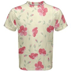 Seamless Flower Pattern Men s Cotton Tee