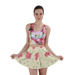 Seamless Flower Pattern Mini Skirt