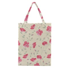 Seamless Flower Pattern Classic Tote Bag