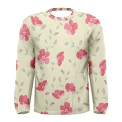 Seamless Flower Pattern Men s Long Sleeve Tee