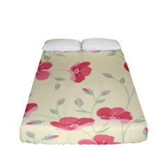 Seamless Flower Pattern Fitted Sheet (Full/ Double Size)