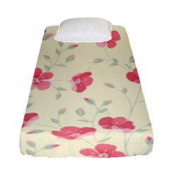 Seamless Flower Pattern Fitted Sheet (Single Size)