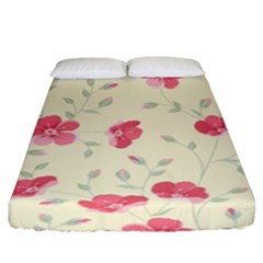 Seamless Flower Pattern Fitted Sheet (King Size)