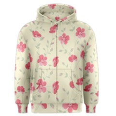 Seamless Flower Pattern Men s Zipper Hoodie