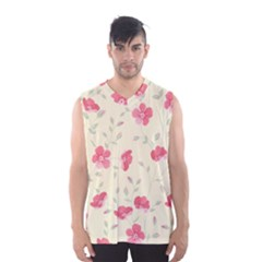 Seamless Flower Pattern Men s Basketball Tank Top