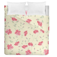 Seamless Flower Pattern Duvet Cover Double Side (Queen Size)