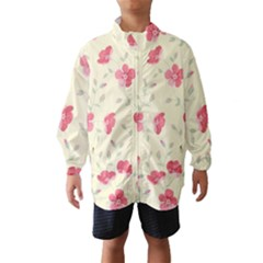 Seamless Flower Pattern Wind Breaker (Kids)