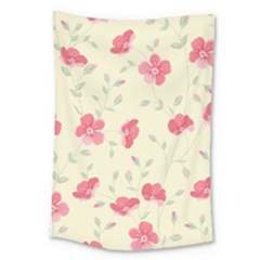 Seamless Flower Pattern Large Tapestry