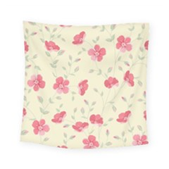 Seamless Flower Pattern Square Tapestry (Small)