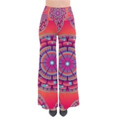Pretty Floral Geometric Pattern Pants