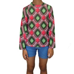 Gem Texture A Completely Seamless Tile Able Background Design Kids  Long Sleeve Swimwear