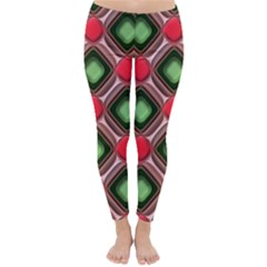 Gem Texture A Completely Seamless Tile Able Background Design Classic Winter Leggings