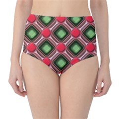 Gem Texture A Completely Seamless Tile Able Background Design High-Waist Bikini Bottoms
