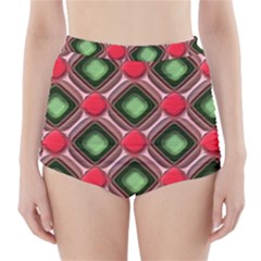 Gem Texture A Completely Seamless Tile Able Background Design High Waisted Bikini Bottoms