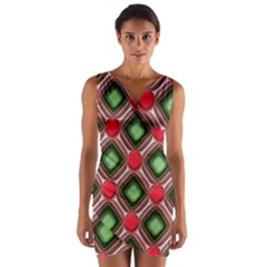 Gem Texture A Completely Seamless Tile Able Background Design Wrap Front Bodycon Dress